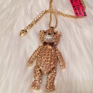 Betsey Johnson Cute Teddy Bear Necklace NWT